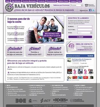 Web de bajavehiculos.com