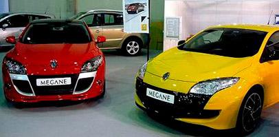 Renault megane rojo y amarillo