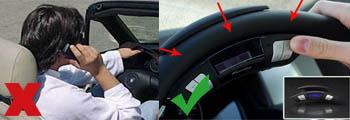 hablar por el movil conduciendo